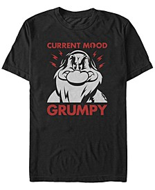 Men's Snow White and the Seven Dwarfs Current Mood Grumpy, Short Sleeve T-Shirt