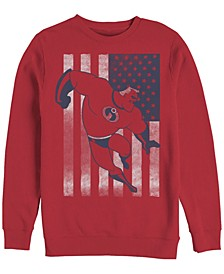 Men's The Incredibles American Flag, Crewneck Fleece