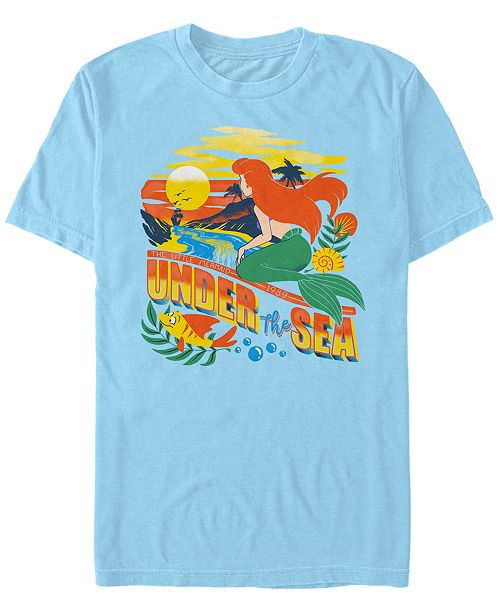 Disney Men's Little Mermaid Ariel Under the Sea, Short Sleeve T-Shirt