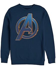 Men's Avengers Endgame Classic Chest Logo, Crewneck Fleece