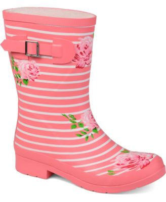 """Pink Buckle Rain Boots Fits 18/"""" American Girl Doll Clothes Shoes"""