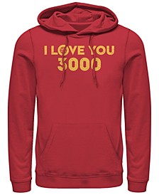 Men's Avengers Endgame Simple I Love You 3000 Iron Man, Pullover Hoodie