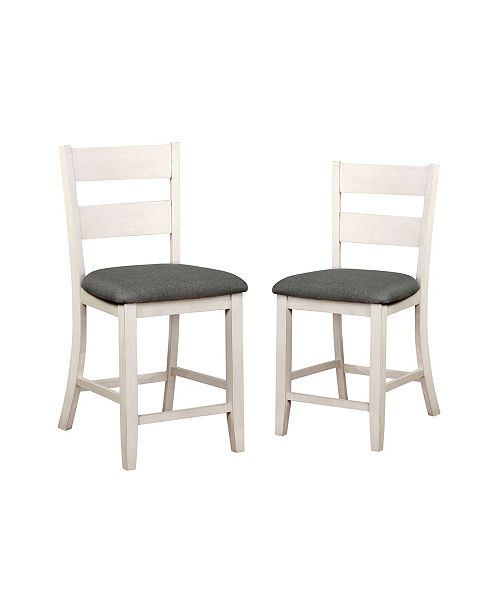 Furniture of America Pierremont Slat Back Counter Chair (Set of 2)