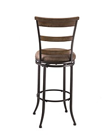 Charleston Swivel Ladder Back Counter Height Stool
