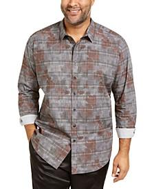 INC Men's Big & Tall Glen Plaid Camo Shirt, Created for Macy's
