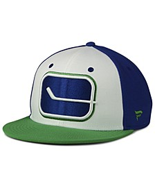 Vancouver Canucks Tri-Color Throwback Snapback Cap