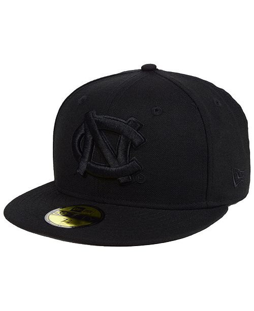 New Era North Carolina Tar Heels Core Black on Black 59FIFTY Fitted Cap