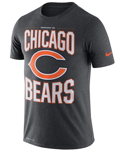Nike Men's Chicago Bears Dri-FIT Cotton Property of T-Shirt