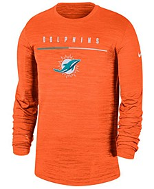 Men's Miami Dolphins Sideline Legend Velocity Travel Long Sleeve T-Shirt
