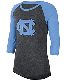 Women's North Carolina Tar Heels Logo Raglan T-Shirt