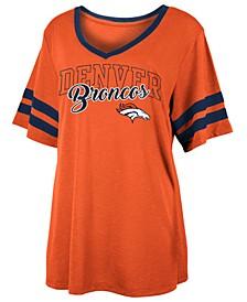 Women's Denver Broncos Sleeve Stripe Slub T-Shirt