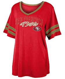 Women's San Francisco 49ers Sleeve Stripe Slub T-Shirt