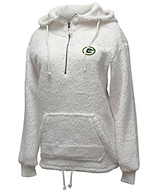 Women's Green Bay Packers Sherpa Quarter-Zip Pullover