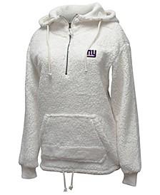 Women's New York Giants Sherpa Quarter-Zip Pullover
