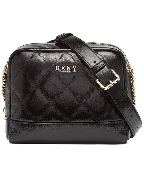 DKNY Sofia Leather Double Chain Shoulder Bag, Created For Macy's