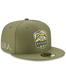 Los Angeles Chargers On-Field Salute To Service 59FIFTY-FITTED Cap