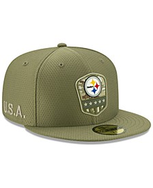 Pittsburgh Steelers On-Field Salute To Service 59FIFTY-FITTED Cap