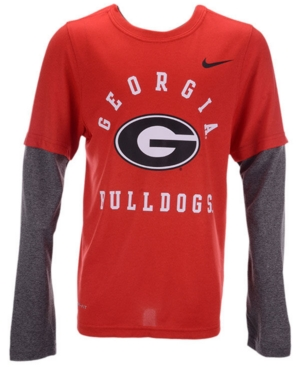 Nike Big Boys Georgia Bulldogs Legend Long Sleeve T-Shirt
