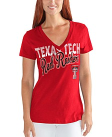 Women's Texas Tech Red Raiders Foil Script T-Shirt
