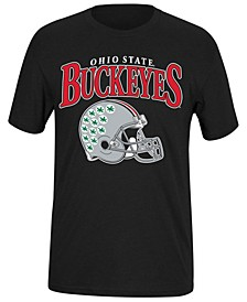 Men's Ohio State Buckeyes Helmet Dual Blend T-Shirt