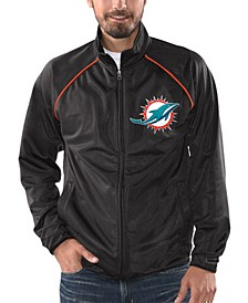 Men's Miami Dolphins Black Tracer Track Jacket