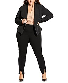 Plus Size Classy Sassy Open-Front Jacket