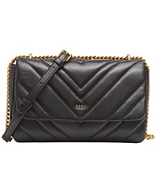 Vivian Leather Double Shoulder Flap
