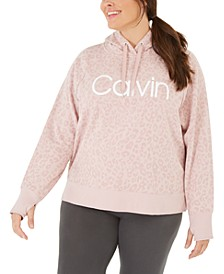 Plus Size Animal-Print Hooded Sweatshirt