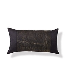 "Onyx 11"" x 22"" Metallic & Embroidered Decorative Pillow"