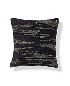 Onyx 12 Square Novelty Yarn Decorative Pillow