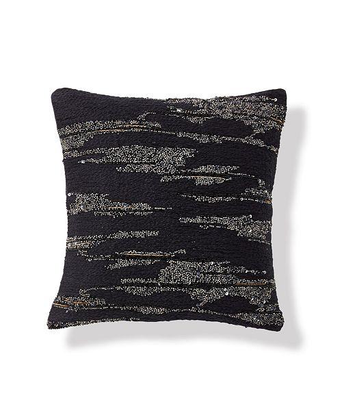 Donna Karan Onyx 12 Square Novelty Yarn Decorative Pillow