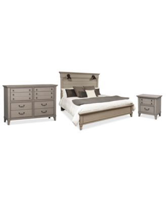 Sausalito Bedroom Furniture, 3-Pc. Set (Queen Bed, Nightstand & Dresser)