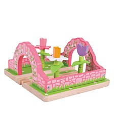 Flower Garden Wooden Train Accessory