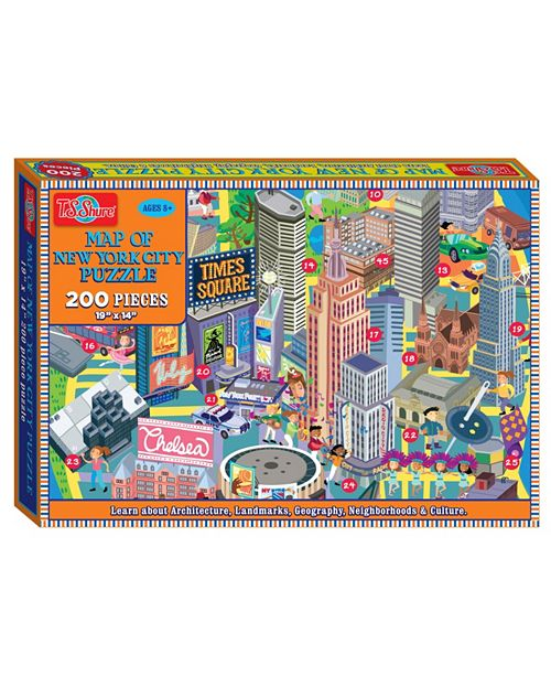 T.S. Shure Map of New York City Jigsaw Puzzle, 200-Piece