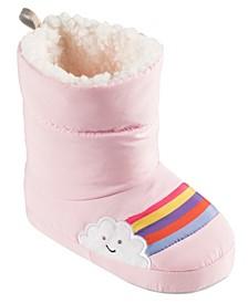 Little and Toddler Girls Lighted Rainbow Duvet Slippers