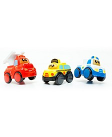 Blocks Set with 3 Electronic Cars