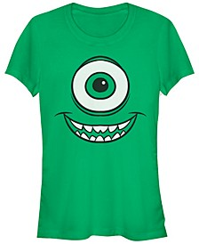 Disney Pixar Women's Monsters Inc. Mike Wazowski Eye Short Sleeve Tee Shirt