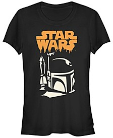 Star Wars Women's Boba Fett Dripping Ooze Logo Halloween Short Sleeve Tee Shirt