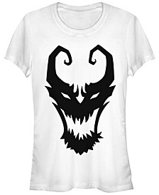 Marvel Women's Venom Symbol Logo Comic Short Sleeve Tee Shirt