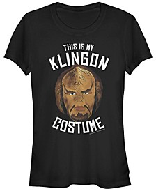 Star Trek Original Series Women's Klingon Costume Halloween Short Sleeve Tee Shirt