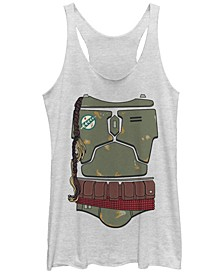 Star Wars Women's Boba Fett's Bodysuit Tri-Blend Tank Top