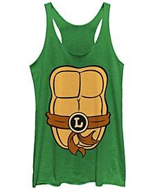 Teenage Mutant Ninja Turtles Women's Leonardo Body Shot Tri-Blend Tank Top