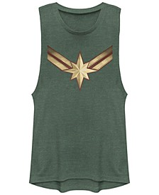 Marvel Women's Captain Marvel Movie Logo Festival Muscle Tank Top