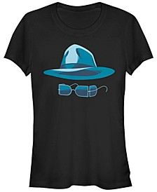 Universal Monsters Women's Invisible Man Big Face Short Sleeve Tee Shirt