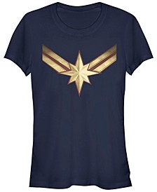 Marvel Women's Captain Marvel Movie Logo Short Sleeve Tee Shirt