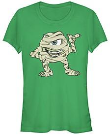 Disney Pixar Women's Monsters Inc. Mike Mummy Short Sleeve Tee Shirt