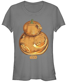 Star Wars Women's Pumpkin Carved Bb-8 Short Sleeve Tee Shirt