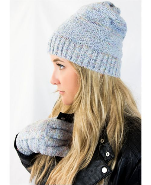 Isotoner Signature Sustainable Recycled Knit Glove & Hat collection