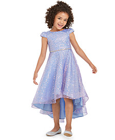 Rare Editions Little Girls Sequined High-Low Dress
