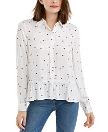 Printed Peplum Top, Created For Macy's